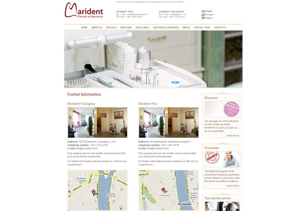 Marident Dental Clinic Website