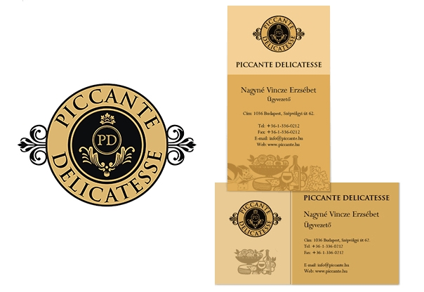 Piccante Delicatesse Business Cards