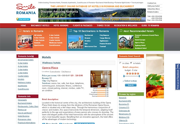 Romania hotel booking portal design and developement for Hotel booking design
