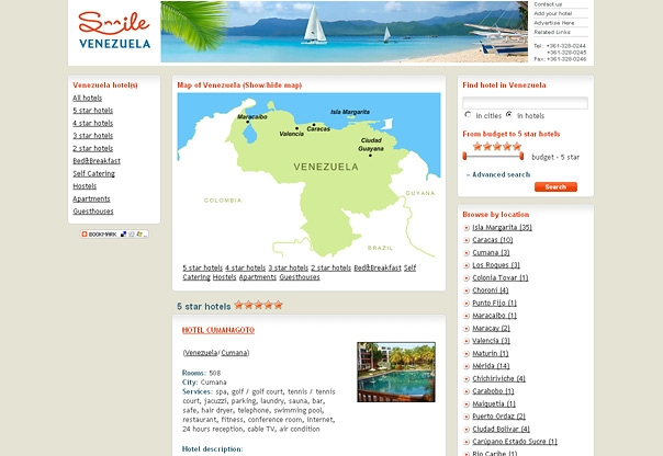 Venezuela hotel booking portal design and developement for Hotel booking design