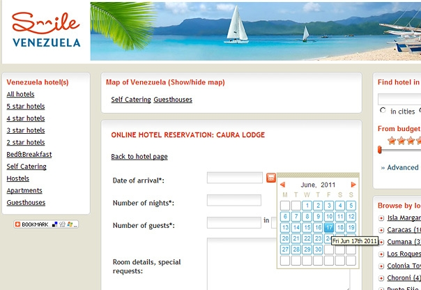 Venezuela hotel booking portal design and developement for Hotel booking design