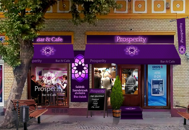 Exterior design for prosperity bar restaurant for Cafe exterior design
