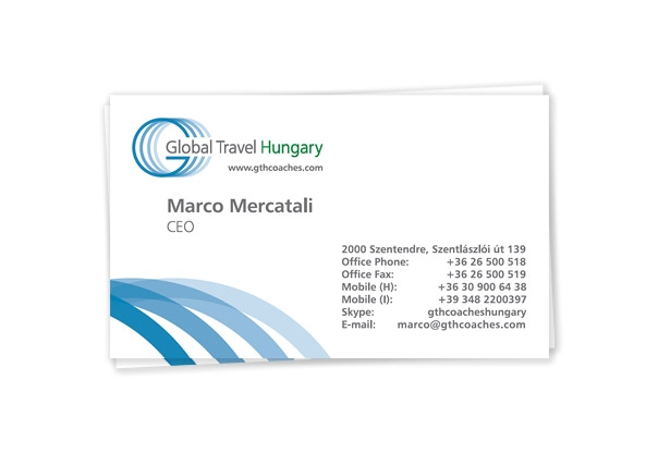 Business cards design for a motor coach company artamaxbrand logo artamax designed a new logo and business card for the company developed and launched a new website additionally we have made a professional outdoor photo reheart Choice Image