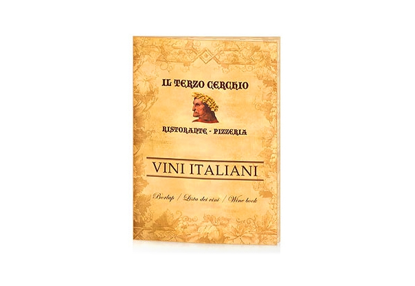 Winebook design and production for italian restaurant ...