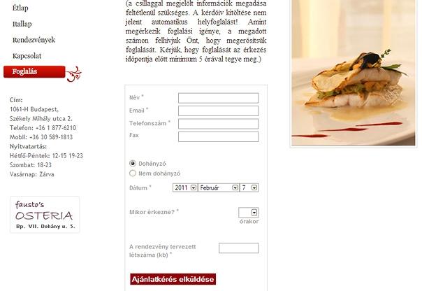 Luxury restaurant professional website design